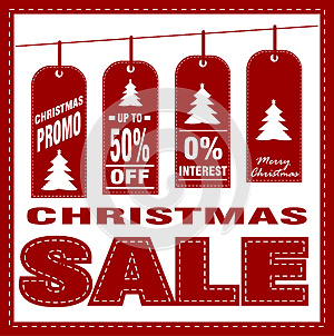 Christmas sale poster design template