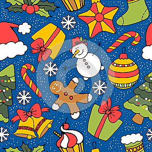 Christmas seamless background, by Mariia Pazhyna, Agency: Dreamstime.com