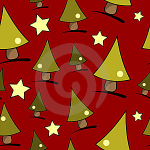 Christmas tree seamless pattern, by Pedro Nogueira, Agency: Dreamstime.com