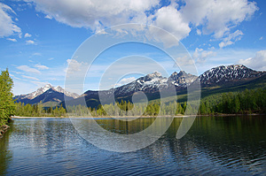 Chugach Mountains and Reflections Lake Alaska