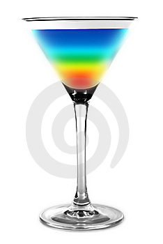 Cocktail - rainbow colors