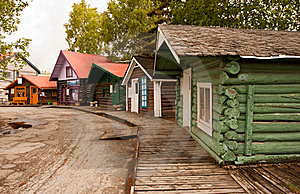 Colorful Cabins on the Boardwalk