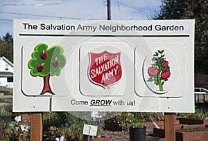Community Neighborhood Garden Sign