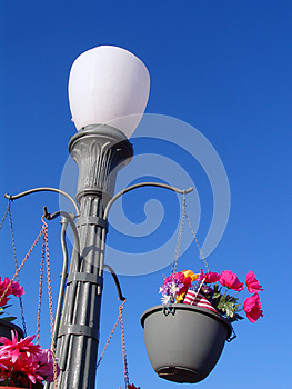 Concrete Retro Lamp Post