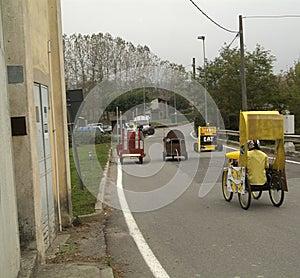 Corsa della scatola, Azeglio Italia