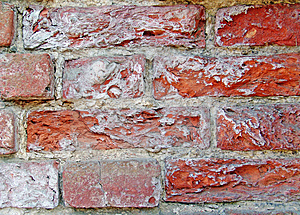 Crushed Old Grungy Red bricks