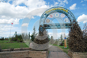 Dawson Creek British Columbia Canada Sign