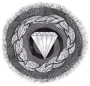 Diamond is formed under great pressure