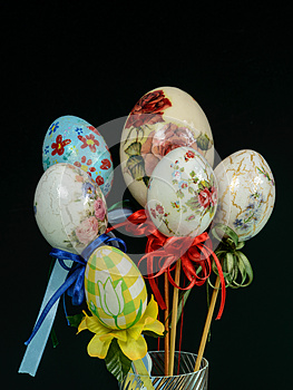 Easter eggs decoration handmade