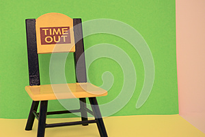 Empty time out chair