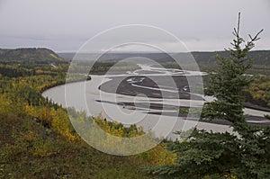 Fall Matanuska River Alaska