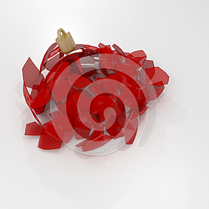 Falling Christmas Bauble Ornament broken