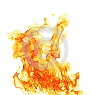 Feuer getrennt auf weißem Hintergrund