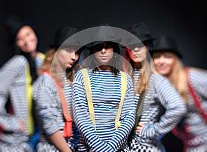 Equipe De Cinco Mulheres Imagens De Stock