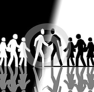 AESCOM - ACOREM : faites vos jeux ! dans Liens foule-noire-et-blanche-se-serrant-la-main-largethumb4354365