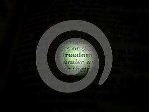 focus on Freedom concept