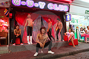 Gay Club on Walking Street in Pattaya
