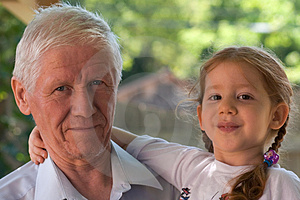 Generations - grandpa and girl
