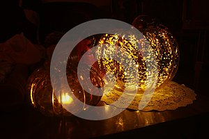 Glass Pumpkins Decor