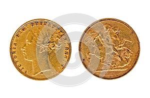 Gold sovereign 1880