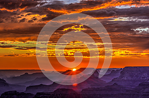 Golden Sunset at Lipan Point, Grand Canyon, Arizona - Best Deal Grand Canyon Arizona Stock Photos Sale