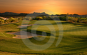 Golf course at sunset - Best Deal Tucson Stock Photos Stuff Sale