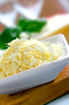 Grated mature cheddar
