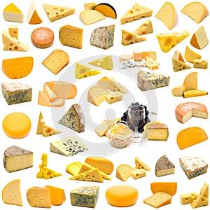 Große Seite der Käseansammlung