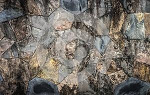 Grunge rock wall