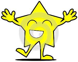 Happy star cartoon