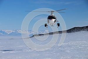 Helicopter in Antarctica - Stock Photos Antarctica Tourists Locations