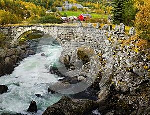 Historic Stone Bridge Roads Norway