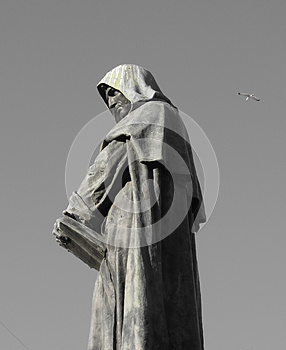 Hooded statue in Rome