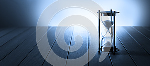 Hourglass Time Clock Running Banner Background