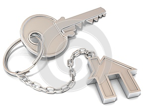 House door key and house key-chain
