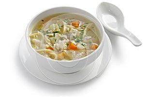 HuhnNudelsuppe, Kälte und kämpfende Suppe der Grippe
