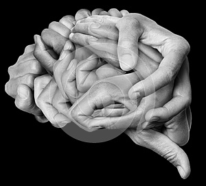 Human brain made with hands