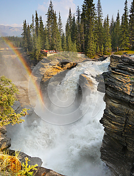 Impressive Waterfall and Raibow
