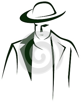 Isolated Man portrait with hat