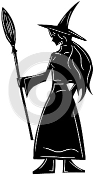 Isolated Witch silhouette