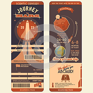 Journey to Mars boarding pass