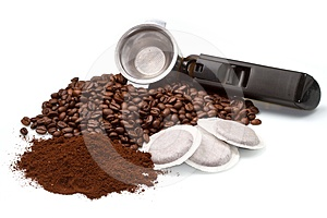 Kaffeemaschine mit unterschiedlichem Typen des Kaffees