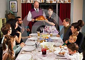 Large Retro Family Thanksgiving Dinner Turkey