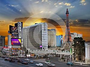 Las Vegas Strip Sunset, Nevada