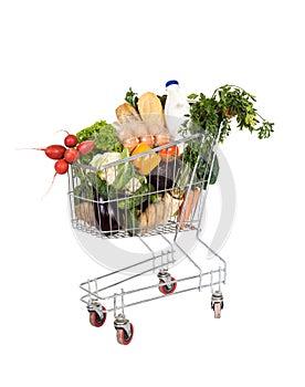 Lebensmittelgeschäfte im Einkaufswagen