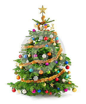 Lush christmas tree with colorful ornaments, by Smileus, Agency: Dreamstime.com