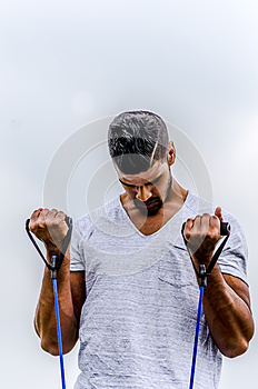 Man exercising outdoor