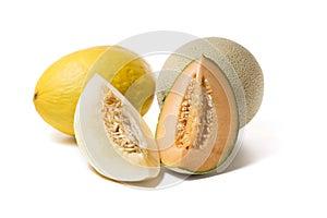 Melonen mit Scheiben