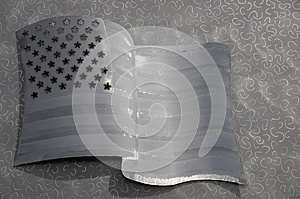 Metal United States Flag