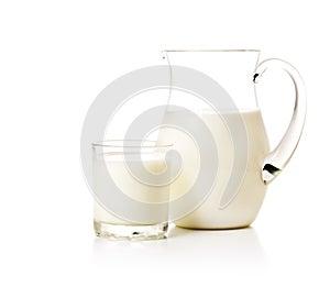 Milchkrug und -glas